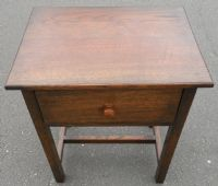 Heavy Oak Small Lamp Table